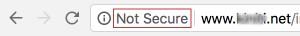 not secure website