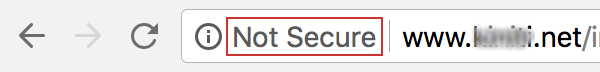 not secure website